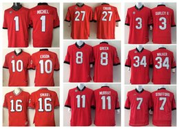 Wholesale M Ii - 1 MICHEL 10 EASON 16 SMART 27 CHUBB 8 GREEN 11 MURRAY 3 GURLEY II 34 WALER 7 STAFFORD Mens College Georgia Bulldogs Men Jersey Jerseys