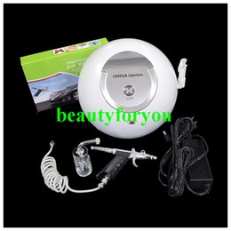 Wholesale Machines For Facial Treatment - New Design Portable Oxygen Facial Machine Water Jet Peel Oxygen Injector Oxygen Spray For Acne Removal Skin Rejuvenation Salon Use
