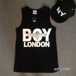 Wholesale Boys Size Tank Tops - Wholesale- 2017 new style casual hip hop boy men's tank tops streetwear for men and women muscle tank tops 100% cotton plus size