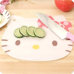 Wholesale kawaii bamboo - Wholesale- Kawaii Hello Kitty Multipurpose Portable Cutting Board.Kids Cup Table Pads Mats.Placemats.Dinning Tableware Desk Pad Kitchen Mat
