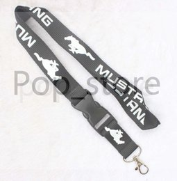 Wholesale Universal Badge - Automobile wind MUSTANG Lanyard Keychain Key Chain ID Badge cell phone holder Neck Strap black.