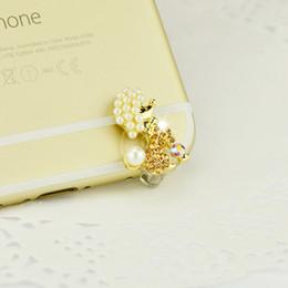 Wholesale Headset Jack Bling - 10pcs Luxury Flowers Bling Diamond Dust Plug Headset Stopper Cap for OPPO R9S iPhone 7 plus Samsung S8 Huawei P10