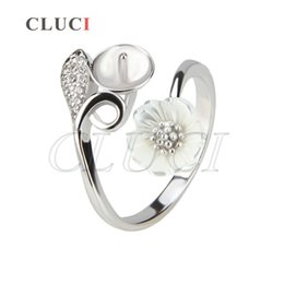Wholesale Fit Jewelry Design - 1Piece DIY 925 Sterling Silver Pearl Ring Fitting in Flower Design AIM Fashion Jewelry Charm Free Shipment