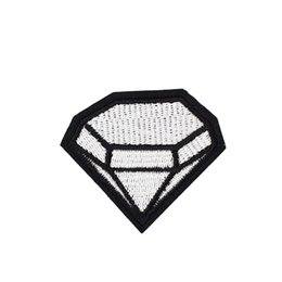 Wholesale Large Clothing Patches - 10PCS Large Diamond Badge Patches for Clothing Bags Iron on Transfer Applique Patch for Jacket Jeans DIY Sew on Embroidery Badge