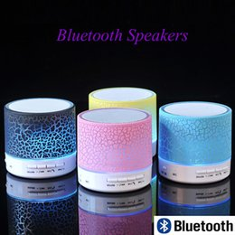 UK flash led china - 2017 New Mini Bluetooth Speakers portable LED Colored Flash Speaker A9S10 Wireless Stereo FM Radio TF Card USB For iPhone Samsung Speakers