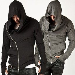 assassin s creed hoodie Coupons - Wholesale- Fashion Assassins Creed Hooded Men Hoodies Male Causal Sportswear Outerwear Tracksuit Sweatshirt US Black Gray Size S-XL