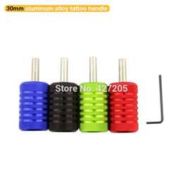 Wholesale Tattoo Adjusted Tools - Wholesale-Free Shipping 4pcs lot 4 Colors Aluminum Alloy 30mm Tattoo Grips Tubes with Adjust Tool for Tattoo Machine Gun Tattoo Supplies