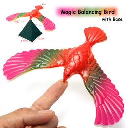 Wholesale Toy Plastic Birds For Kids - Wholesale-Free shipping Balance Eagle Bird Toy Magic Maintain Balance Home Office Fun Learning Gag Toy for Kid Gift High Quality