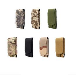 Wholesale Wholesale Plain Fans - Military fans tactical pockets bag outdoor sports tactical belt pockets waist belt wallet 5 6-inch mobile phone bag