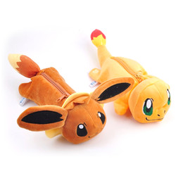 Anime Pokemon Pikachu Pencil Case Poke Ball Cosplay School Writing Case Children Plush Pencil-case Novelty & Special Use