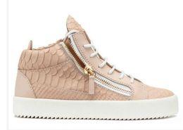 Wholesale Casual Women Shoes Plus Size - plus sizes 35-47 Men & Women Black Genuine Leather High Top trainers fashion casual Shoes, Luxury Brand Comfortable Lace-up Double zipper