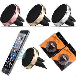 Wholesale Mounts For Phones - Car Mount Air Vent Magnetic Universal Mobile Phone Holder For Samsung Galaxy S7 S6 With Retail Package