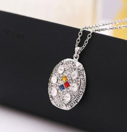 Wholesale Pendant Souvenir - New arrival Men fashion sports jewelry 2008 S t e e l ers championship necklace fans souvenir gift