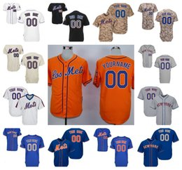 Canada Hommes Femmes Jeunes Maillots New York Mets # 30 # 34 # 48 # 52 # 17 # 18 # 5 Maillots de base Baseball Cool Noir Camo Blue Grey Orange Pull blanc crème new jersey woman for sale Offre