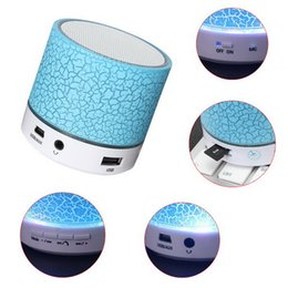Wholesale Micro Bluetooth China - Portable Bluetooth Speaker Mini LED Wireless Speakers Play Music With Micro SD TF Radio Fm USB Phone Call For Computer