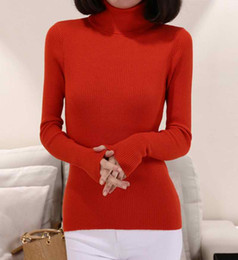 Wholesale Warm Women Sweaters - Wholesale-2015 Cashmere Wool Sweater Women Turtleneck Pullover Ladies Shirt Hot Sale Female Warm Tops Sale Clothing Free Shipping