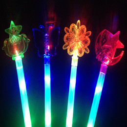 Wholesale Glo Sticks Led - Lamp Glow Sticks To Three Changes The Fairy Maiden Stick Glo-Sticks Flash Great Magic LED Toys For Halloween Decoration