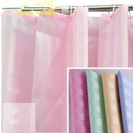 Wholesale Wholesale Shower Curtain Rings - Solid Color Waterproof Bathroom Shower Curtain Décor Solid Colors Curtain with Ring for Bathroom Shower Bath Curtain KKA2475