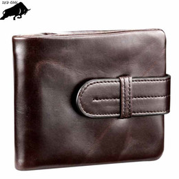 Wholesale Cool Business Card Holders - ZYD-COOL Men Cow Leather Wallets Vintage Short Coin Purse Male Card Holder Wallet Multifunction Large Capacity Quality Purses