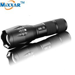 Wholesale E17 Cree - E17 CREE XML T6 3800LM Aluminum Waterproof LED Torches Zoomable Tactical LED Flashlights Torch Light for 3xAAA or 1x18650 Battery