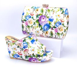 Wholesale Matching Handbag Shoes - vivilace 1707276 New season Fashionable shoes with bag  Italian African lady high heel shoes matching Quality handbag