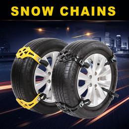 Wholesale Installation Truck - 4Pcs Easy Installation Simple winter Truck Car Snow Chain Tire Anti-skid Belt Free Shipping