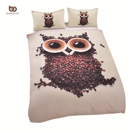 Wholesale Twin Cotton Quilts - Wholesale-High Quality 3D Bedding Sets Duvet Cover Soft Unique Design Queen Size Owl Quilt Factory Direct