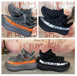 Wholesale Toddler Boys Athletic Shoes - New Grey Orange Beluga Boost 550 Kids athletic Shoes parents and Children Running Shoes Boys Girls Sports Toddlers white Black strip Sneaker