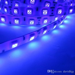 Wholesale Led Uv Light Flat - UV Ultra Violet New 5M 5050 395-405nm 300 60 LEDs M LED Strip Light Waterproof 12V 5A