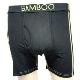Wholesale Mens Underwear Boxers Bamboo - Slim Fit Boxers Mens Underwear Black Bamboo Fiber Brief Comfortable Cotton Sweat-absorbent Mens Underwear for Men