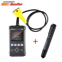 Wholesale Gift Scanner - 2017 LAUNCH Creader 519 ODB ODB2 Automotive Scanner OBD II Diagnosis Tool CR519 Autoscanner free Brake Fluid Tester Pen as gift