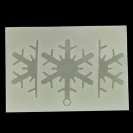 Harz schneeflocke online-Neue DIY Handgemachte schneeflocke Form Epoxy Silikonform Epoxidharz Schmuck Machen Handwerk Werkzeuge 5,5 * 5 cm