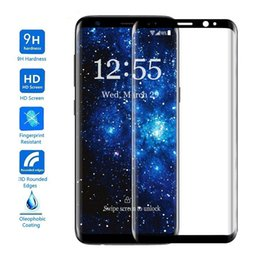 Wholesale Colorful Screen Protector 3d - FREE DHL!!!For Galaxy S8 3D Curved Tempered Glass s8 Plus Full Cover Protector Film Colorful Tempered Glass Screen Protectors with package