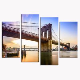 Wholesale New York Bridge - HD New York Scenery Canvas Prints for Bedroom Wall Decor Brooklyn Bridge Photo Printed on Canvas