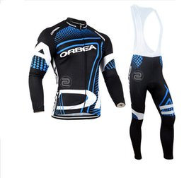 Wholesale Orbea Cycle Clothing - 2017 Orbea Team Mens Winter Cycling Jersey Set  Thermal Fleece Bicycle Clothing Mens Bicycle Clothing MTB Bike Clothes, 4 Colors.