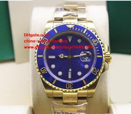 Wholesale Asia Yellow - Luxury AAA+ Quality Watch 40mm Ceramic Bezel 116618 LB LN 116618LB 116618LN 18k Yellow Gold Asia 2813 Movement Automatic Mens Watch Watches