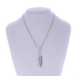 2019 перо ожерелье для продажи Горячие продажи женщин простой элегантный короткие цепи Ожерелье для женщин шикарный бесконечно перо Лариат ожерелье Бесплатная доставка дешево перо ожерелье для продажи