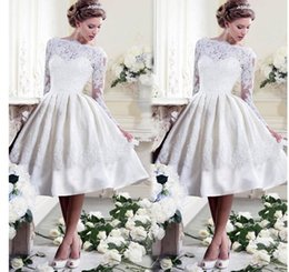 Wholesale Trendy Lace Cocktail Dresses - Wedding dress Women Trendy White Party dresses Bride sexy lace bare back dress Evening Cocktail Dress