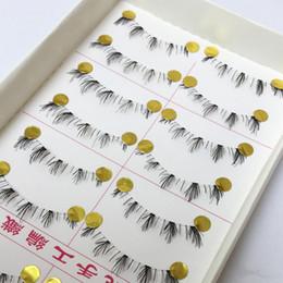 Wholesale false bottom - Wholesale- 10 pairs handmade lower under bottom false eyelashes make up fake eye lashes extension cosmetic beauty tools 047#