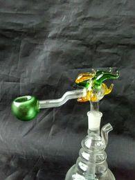 quemador de aceite de dragón Rebajas Dragon bigotes bongs accesorios, tubos de agua de vidrio tubos de fumar percolador vidrio Bongs quemador de aceite tubos de agua plataformas petroleras fumar