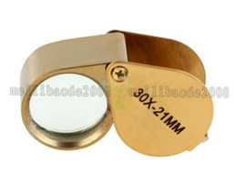 Wholesale Microscope Free Shipping - NEW Golden Triplet Eye Magnifier Power 30X-21mm Jeweler's Loupe FREE SHIPPING MYY