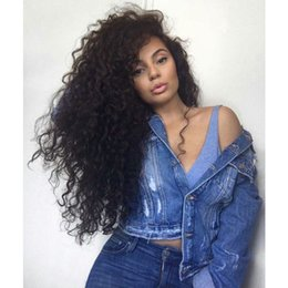 Wholesale Glueless Lacefront Wigs - Glueless Full Lace Wigs Swiss Lace Unprocessed Indian Virgin Hair Full Lace Deep Wave Wig Human Hair Lacefront Wigs With Baby Hair