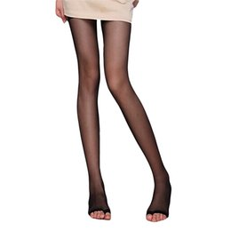 Wholesale Sexy Toes Tights - Wholesale- New Durable Amazing Sexy Lovely Women Open Toe Toeless Ultra-Thin Pantyhose Tights Black Nude