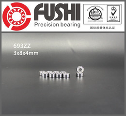 Wholesale Ball Bearing Abec - Wholesale- 693ZZ Bearing ABEC-7 10PCS 3x8x4 mm Miniature 693 ZZ Ball Bearings 619 3ZZ EMQ Z3 V3 Mini 693Z 3*8*4 Bearing