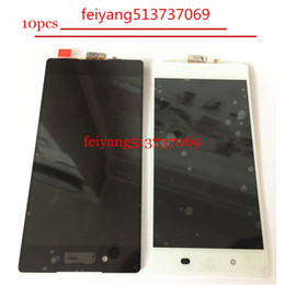 """Wholesale Xperia Screen Replacement - 10pcs Original Black White LCD Display Touch Screen Digitizer Assembly 5.2"""" for SONY Xperia Z4 Replacement"""
