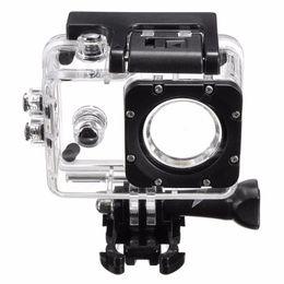 Wholesale underwater camera accessories - Wholesale- Transparent Plastic Waterproof Dive Housing Case Underwater Cover For SJ4000 Sports Camera Camera Accessories