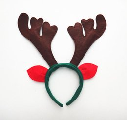 Wholesale Headdress Decor - Christmas unisex headband antlers ear head hoop Party bar club decor adults children hairband Cosplay headwear headdress party favor GIFT