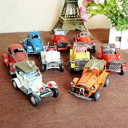 Wholesale Classic Car Models For Gifts - Multi-color Small Classic Car Models Vintage Vehicle Bag Hang Home Decoration for Children Desktop Furnishings for Bedroom Study