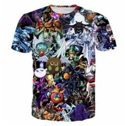 Camisas de elfo online-La última moda para mujer / para hombre Duel Monsters Elf Summer Style manga corta Funny 3D Imprimir camiseta casual TX0097