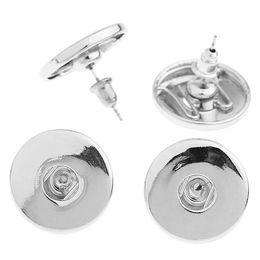 Wholesale Black Metal Earrings - 19x17mm metal button snap earrings fit 18mm snap button jewelry